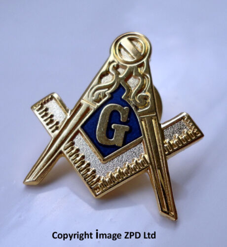 ZP274 Freemason Masonic lapel pin badge G Geometry Square Compass