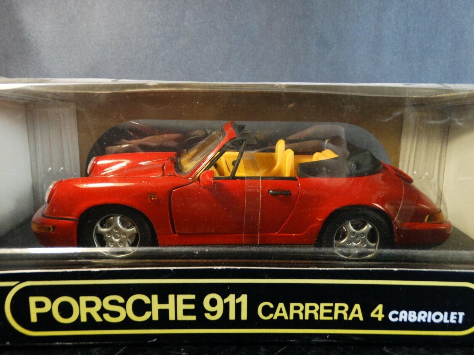 ANSON PORSCHE 911 autoRERA 4 Cabriolet 1 18 SCALA DIECAST modelloLO AUTO ROSSO 30309
