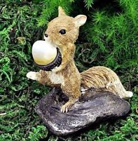 Miniature Fairy Garden Squirrel W Nut 17375 / Dollhouse Gnome Hobbit Figurine