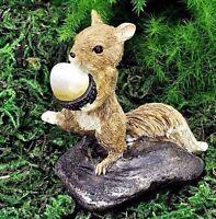 Miniature Fairy Garden Squirrel W Nut 17375 / Dollhouse Gnome Hobbit Figurine
