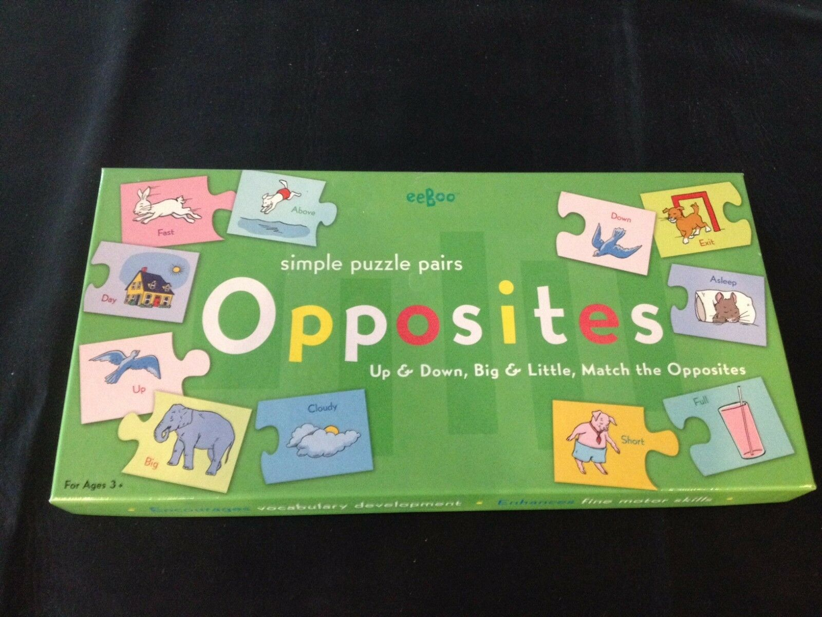 SIMPLE PUZZLE PUZZLE PUZZLE PAIRS, OPPOSITES, BY eeBoo, BRAND NEW 525d12