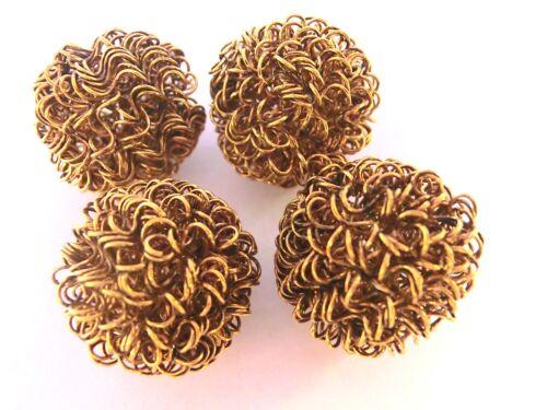 4 Spacer Drahtperlen Farbe gold ca 20mm Metallperlen #S421