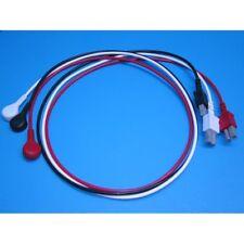 Hp Agilent Philips 3 Lead Snap Type Ekg Ecg Wire Set With Rectangular Plug Viridia