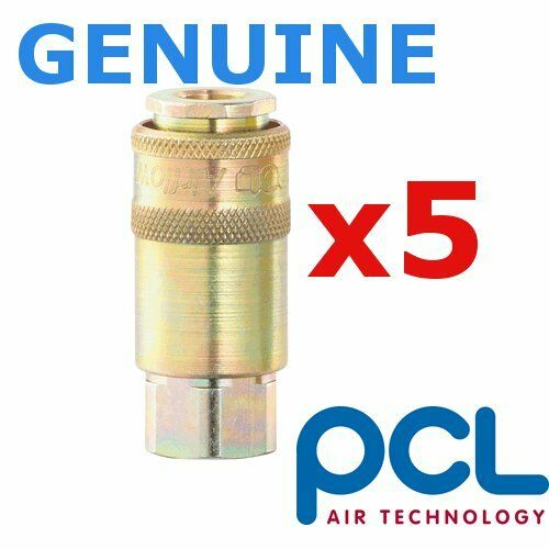 5x Genuine PCL Airflow coupling air tool adaptor airline fitting 1/4BSP Female