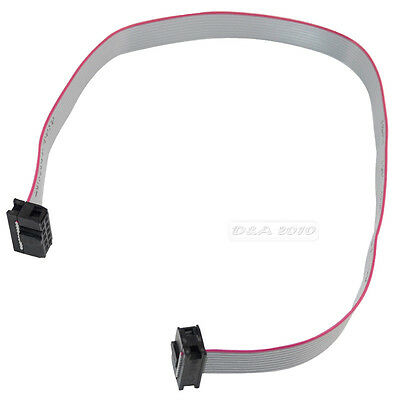 """584mm 23 inch 10pin 10 way IDC Flat Ribbon motherboard Cable 0.1"""" 2.54mm Pitch"""