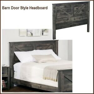 Image Is Loading New Barn Door Style Queen Headboard Country Wood
