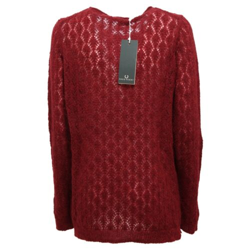 Woman Donna 2231r Sweatshirt Maglione Bordeaux Fred Perry 1xYTqHwvR