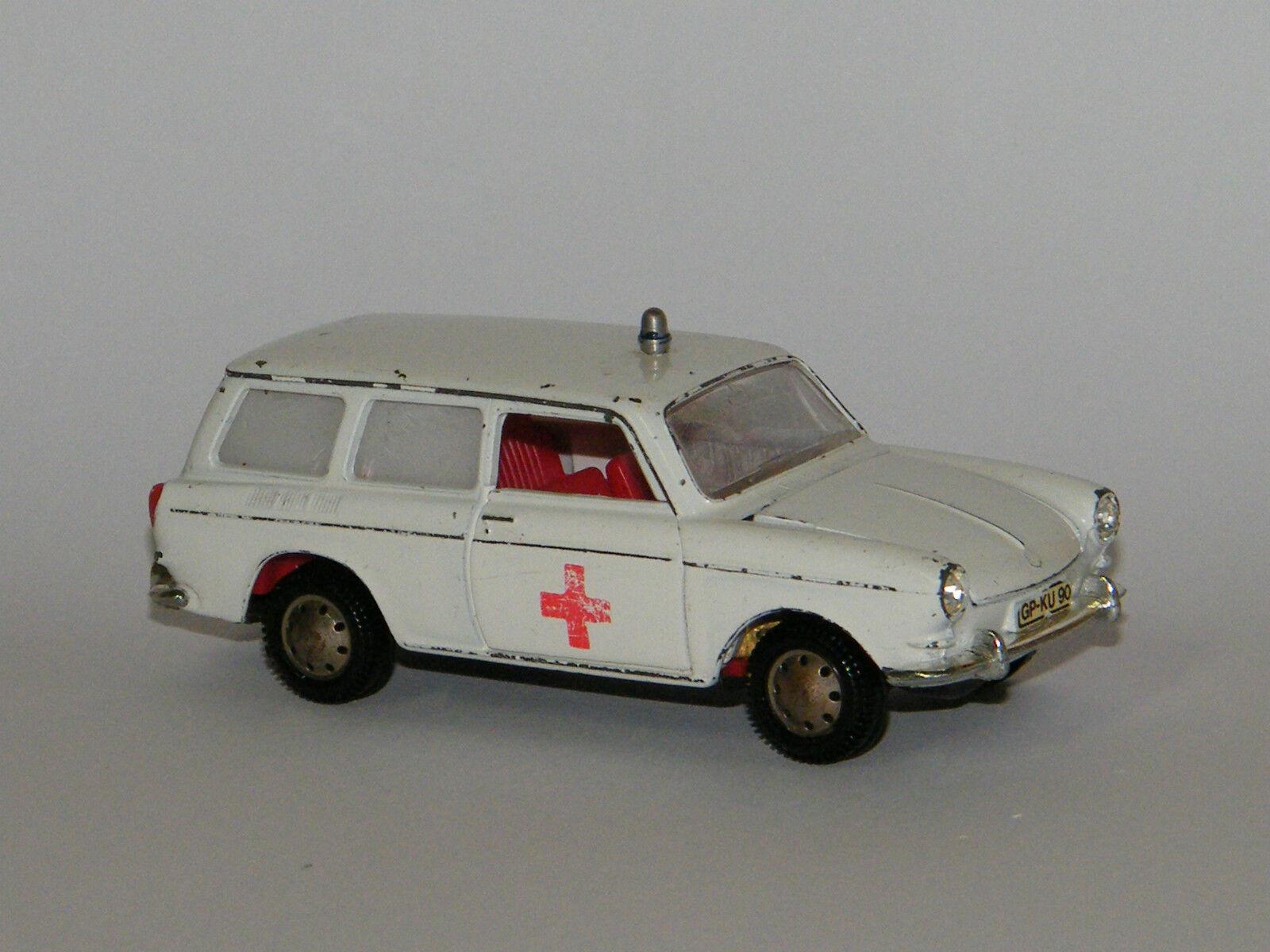 Märklin vw variant 1600 L, mmodellauto  ambulance voiture, ambulance, 1 43  meilleur service