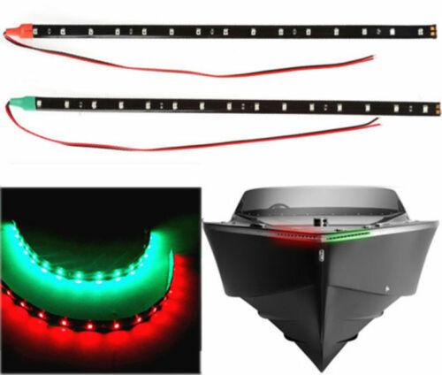"2pcs 12/"" 12V LED Strip Light RED/&GREEN For Bow Boat Marine Navigation Waterproof"