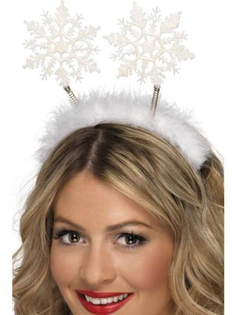 SNOWFLAKE HEAD BOPPERS, CHRISTMAS FANCY DRESS, ONE SIZE, UNISEX
