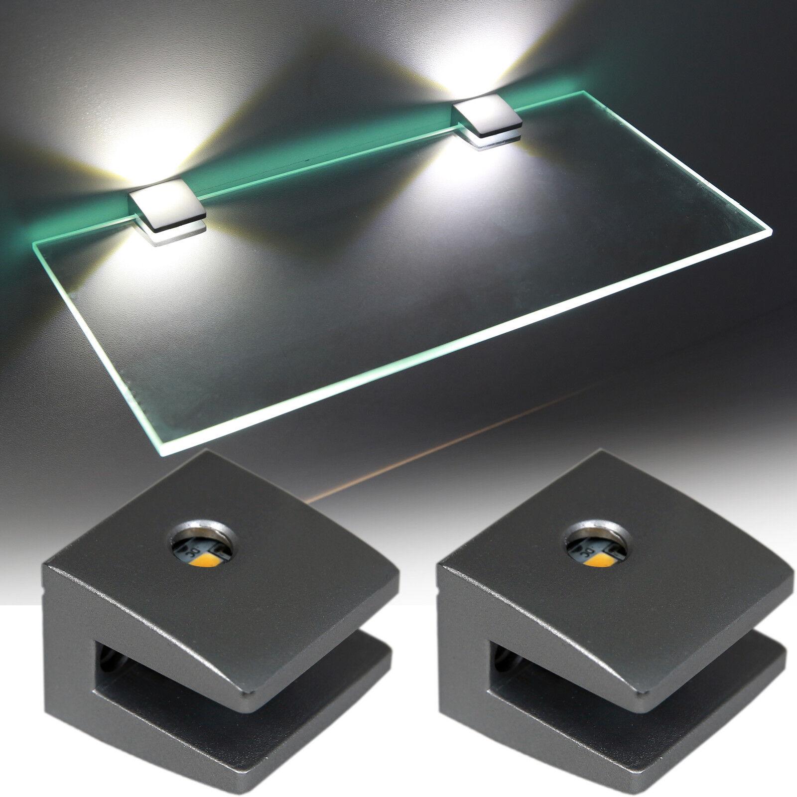 Glasbodenhalter Glaskantenbeleuchtung LED 3 Seiten Glasbodenbeleuchtung Art.2460