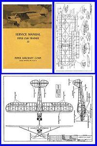 Piper J3 Cub  1945 Service Manual on CD