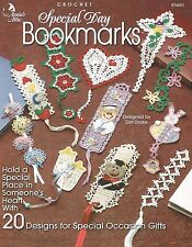 Special Day Bookmarks Crochet Patterns Crosses Heart Flowers Annie's Attic NEW