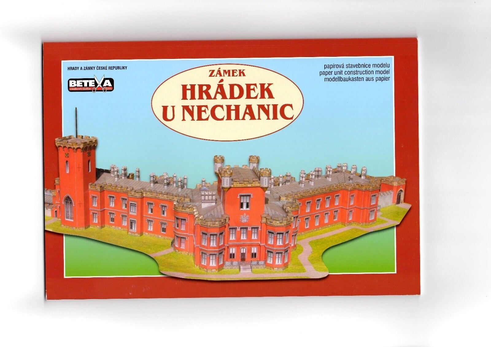 Card Model Kit – Hradek u Nechanic Chateau