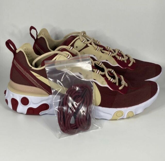 Men's Nike React Element 55 Florida State FSU Seminoles Shoes CK4838 600 Sz 9