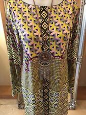 Hale Bob Pattern Shift Dress Size M