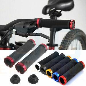 DOUBLE-LOCK-ON-LOCKING-BMX-MTB-MOUNTAIN-BIKE-BICYCLE-HANDLE-BAR-GRIPS