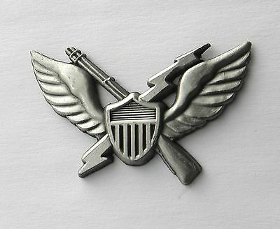 ARMY AIRBORNE AIR ASSAULT BADGE HELICOPTER WINGS PEWTER LAPEL PIN 1.25 INCHES
