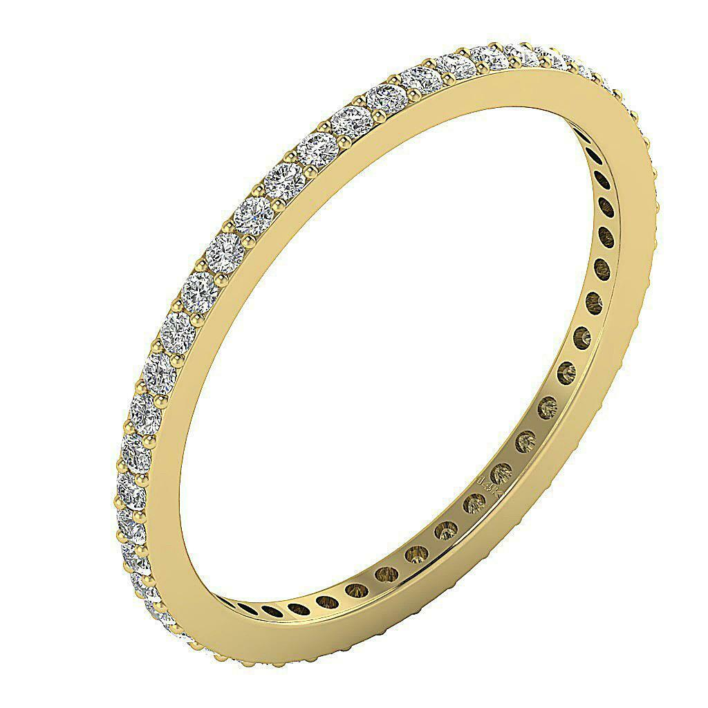 Eternity Engagement Ring SI1 G 0.60 Ct Natural Diamond 14K Yellow gold Appraisal