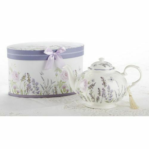 Delton Porcelain Tea Pot, Lavender, Keepsake Box