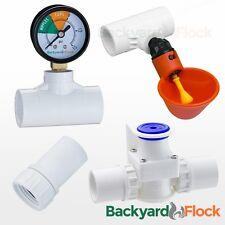 10 Cup Poultry Watering System w/ Tees, Pressure Regulator, Gauge & Hose Adapter