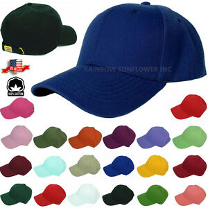 2d9cc4ffbb9 New Plain Solid Washed Cotton Polo Style Baseball Ball Cap Caps Hat ...