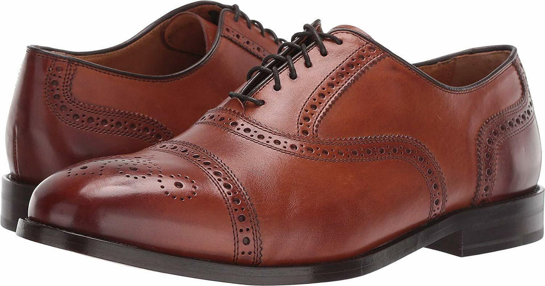 Cole Haan Men's Kneeland Brogue Leather Cap-Toe Oxfords British Tan