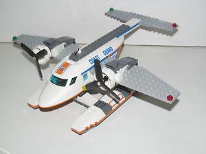 Lego-Ville-City-Avion-Hydravion-Sauveteurs-Coast-Guard