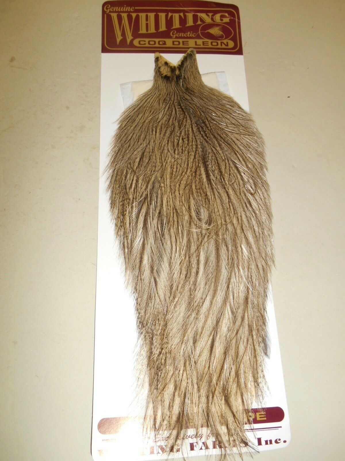 Whiting Coq de Leon Cape BADGER DYED NATURAL BROWN