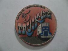 TRUCK INN $5 CASINO POKER CHIP TRUCK STOP I-80 FERNLEY NV OBSOLETE GAMBLING