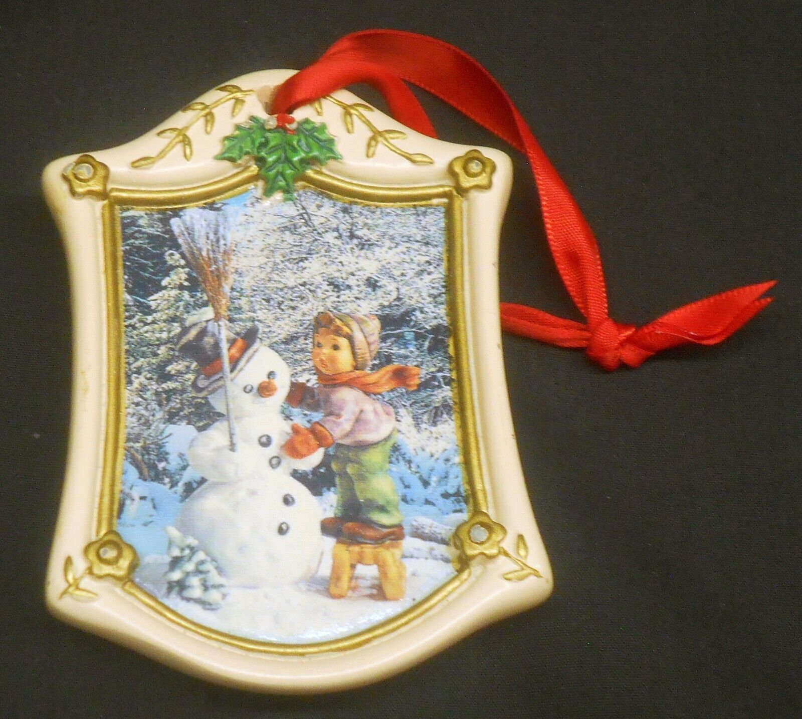 Danbury Mint Hummel Making New Friends Boy Snowman Ornament Ebay