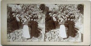 Sur de La Francia Foto Estéreo Aficionado snapshot n24 Vintage Citrato c1900