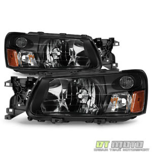 Image Is Loading 2003 2004 Subaru Forester Headlights Headlamps Aftermarket 03