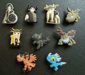 9 x How To Train Your Dragon Shoe Charms PVC Rubber Holey Clogs shoes Charm