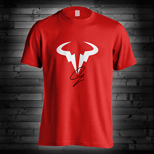 Rafael Nadal Logo T Shirt Rn Rafa Tennis Player Red Blue Camiseta Tee New Ebay