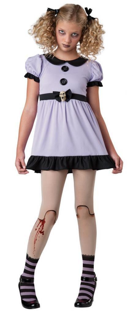Ragdoll Creepy Doll Zombie Dead Purple Baby Raggedy Skull Tween Annabelle Dress