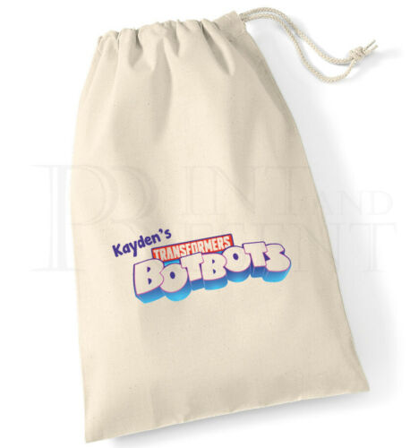 Personalised Transformers BotBots Drawstring Storage Bag