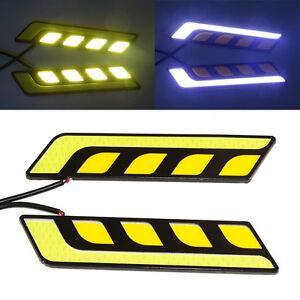 2Pcs-LED-COB-Car-Auto-DRL-Driving-Daytime-Running-Turn-Lamp-Fog-Light-DC-12V-Hot