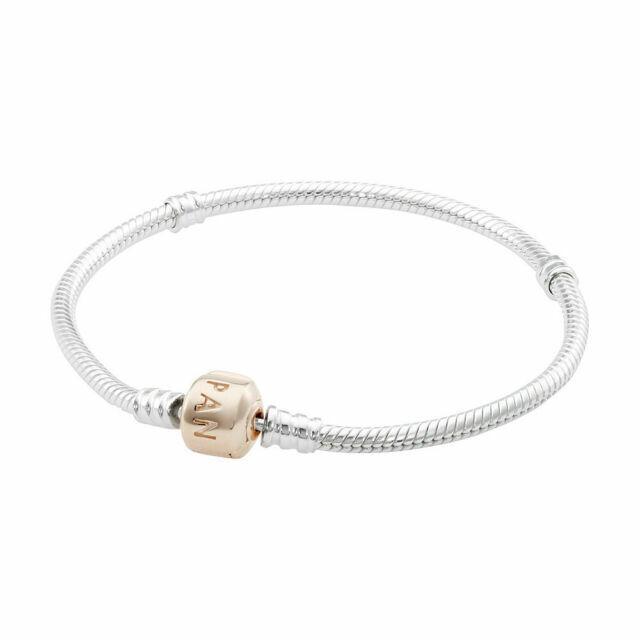 Pandora Silver Bracelet 14k Rose Gold