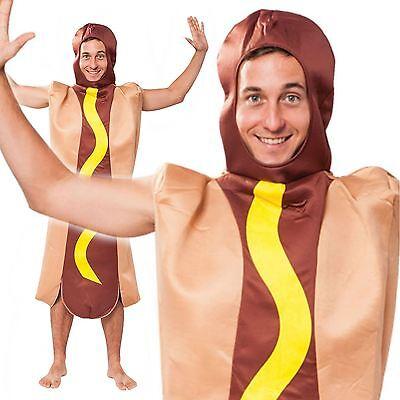 Adult Hot Dog Hotdog Novelty Food Joke Fun Stag Hen Fancy Dress Costume Outfit