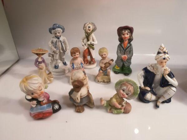 10 Statuette Ceramica Varie Marche Vendo In Blocco H 16cm