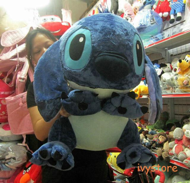 Disney Lilo&stitch blue stitch sitting plush stuffed animal big toy doll