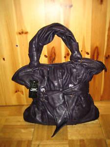à patch et Poches détail avec à glissière de Noir violet de bouts épaule sac main internes fermeture Grand 5wv4Zqv