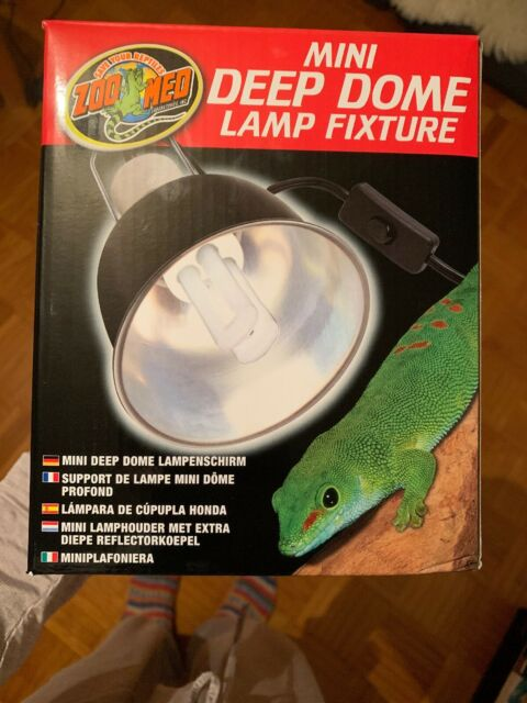 Zoo Med Mini Deep Dome Clamp Lamp, Klemmlampe, Reflektor, ZM-LF-18E