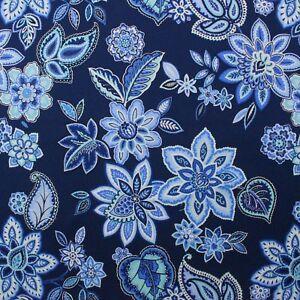 WAVERLY CHARISMATIC DELFT BLUE JACOBEAN FLORAL TOILE ...