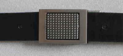 1a Oggetti Da Qualità Cintura In Pelle Nuovo Cintura Larghezza 35mm In Pelle Fibbia Cinturone Matt #-t Ledergürtel Neu Gürtelbreite 35mm Leder Koppelschnalle Matt# It-it