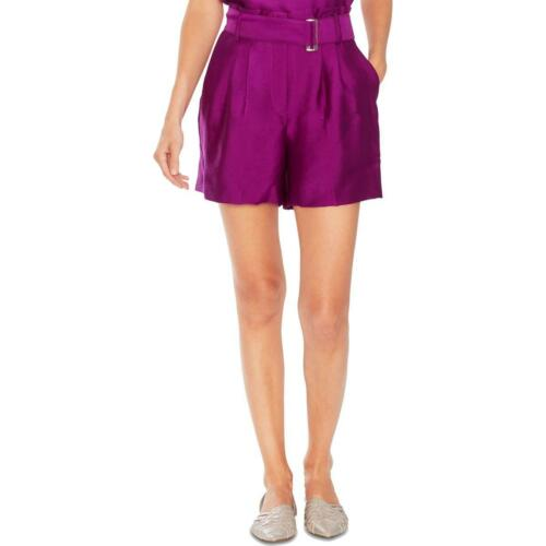 Vince Camuto Womens Purple Satin Paperbag Textured Shorts 4 BHFO 5511
