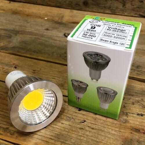 COB 9 Watt Efficiency A HuiHuang ~ GU10 Warm White LED Bulb x8