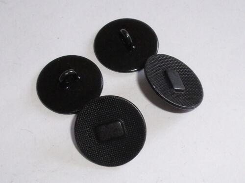 6 Stück Metallknöpfe Knopf Ösenknopf Knöpfe  27 mm schwarz NEUWARE #836.2#