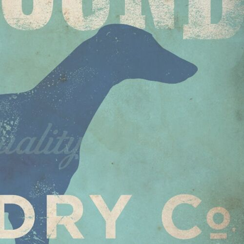 Fowler 8x10,11x14 Print-Free Shipping Greyhound Laundry Company Silhouette by S